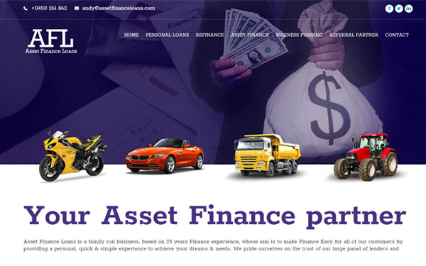 afl-Finance Company Web Design