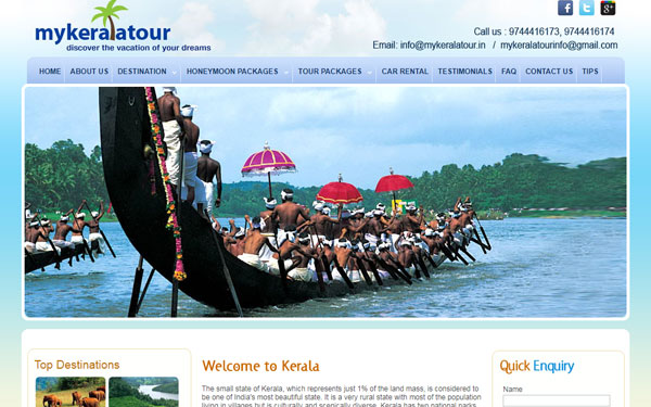 Tour Operator Web Design