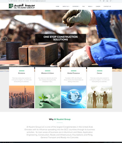 Trading and Contracting Web Design