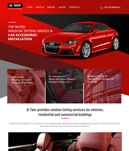 Auto Accessories Web Design from India web design company