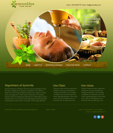 Ayurveda Web Design