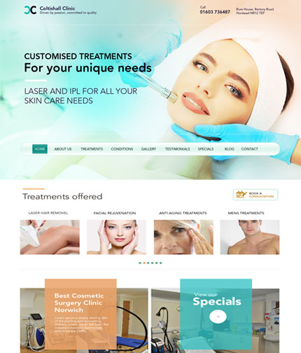 Laser Skin Care Web Design
