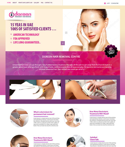 Hair Clinic Web Design