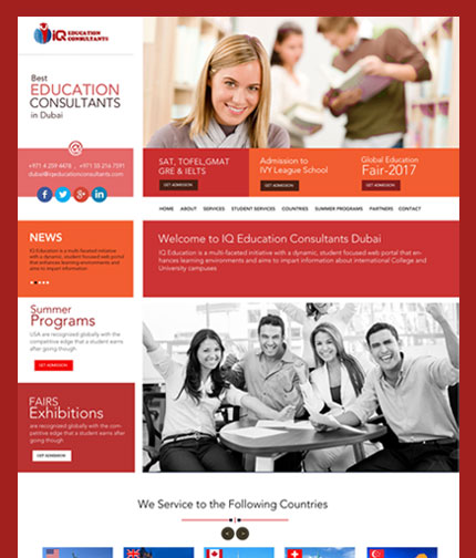 Education Consultants Website Design