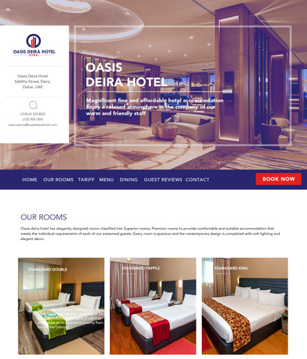 Interior Design Company website by Indian web designer