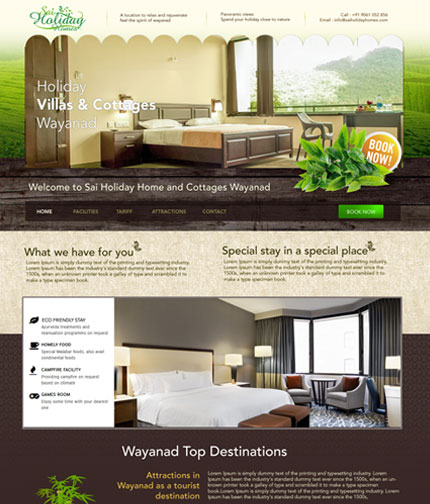 Holiday Home Web Design
